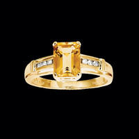 Citrine Topaz Ring