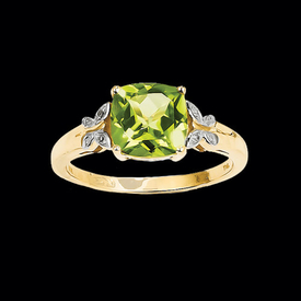 Peridot Rings Peridot Butterfly Ring