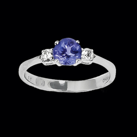 Tanzanite Classic Three Stone Ring