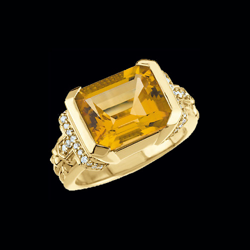Citrine Amp Diamond Ring At Graciousrose Com