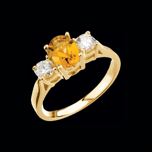 citrine engagement sormus bezel keltakulta ring product rings grande en sitriini with jewellery torkkeli