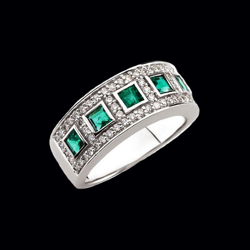 Emerald Diamond Band