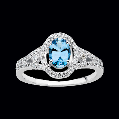 genuine aquamarine amp diamond ring