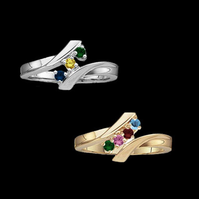 Birthstone Mother Ring, Alexis