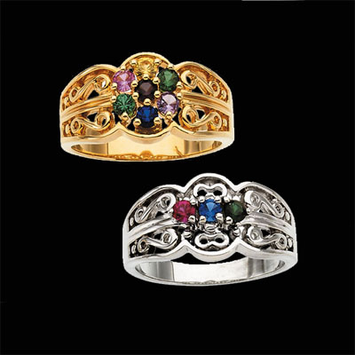 Raquel Birthstone Mothers Ring