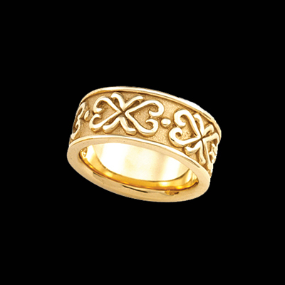 Etruscan Inspired Wedding Band