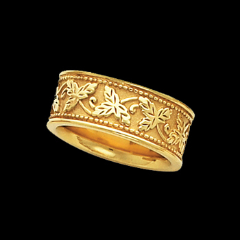 Ladies Fancy Gold Band
