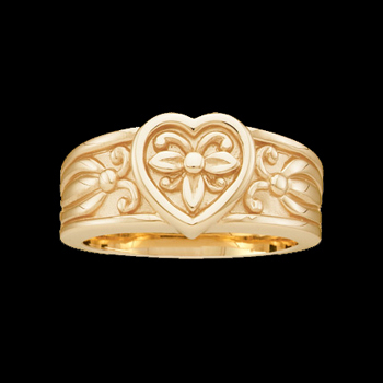 Fashion Heart Gold Band