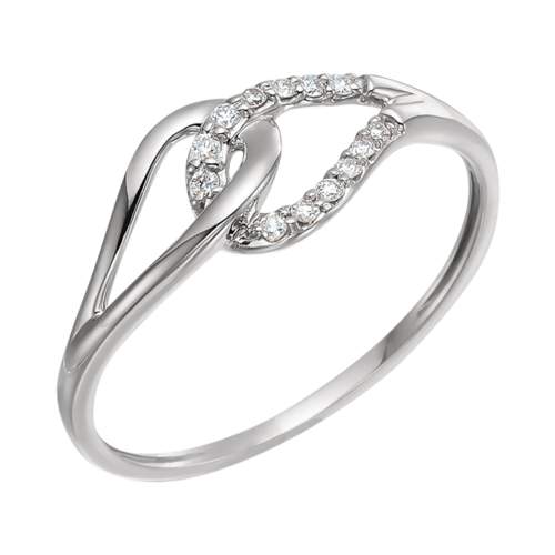 Diamond Love Loop Diamond Ring