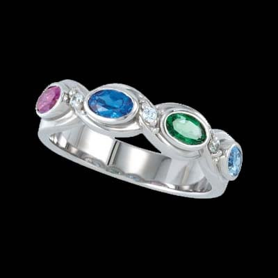 Oval Twist Mothers Ring