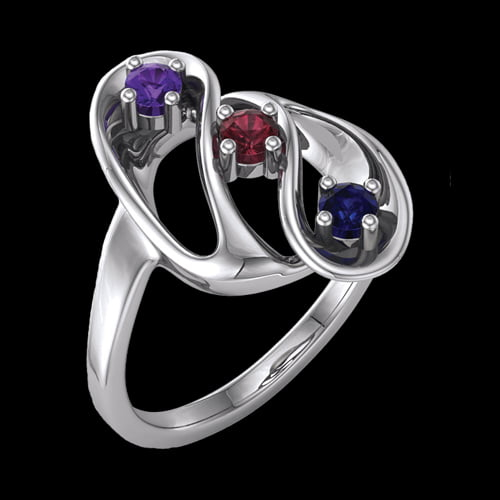 rings birthstone sterling engraved custom simulated mothers dp personalized com silver amazon ring stones
