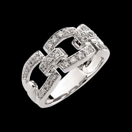 Buckle White Gold Diamond Ring
