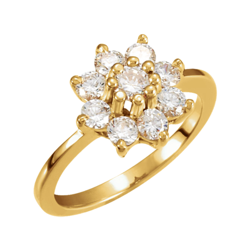 Brilliant Diamond Flower Ring