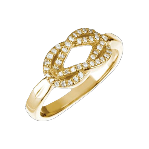 Gold Love Knot Diamond Ring