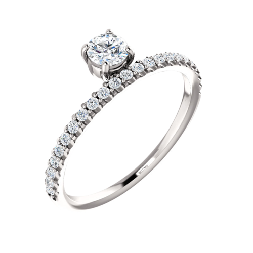 Asymmetrical Diamond Ring