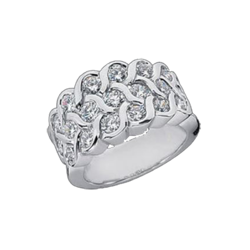 Woven Diamond Dynasty Ring