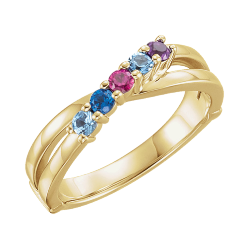 Mary, 14k Gold Mothers Ring