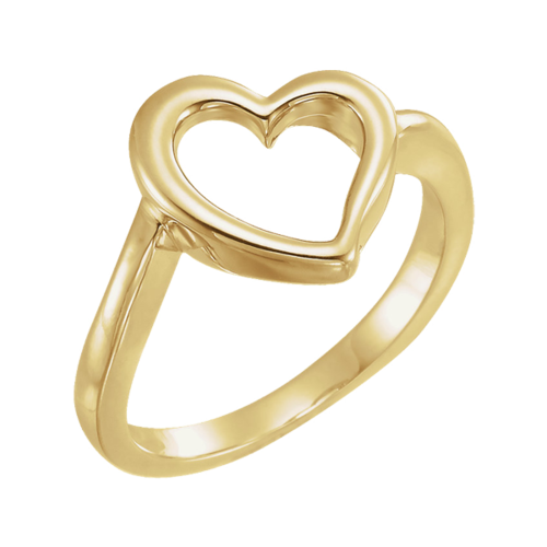 14k Gold Heart Ring