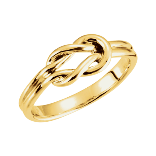 14k Gold Knot Design Ring
