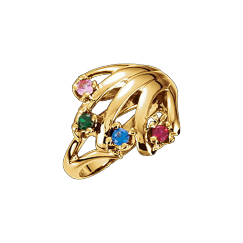 Antoinette, 14k Gold Mothers Ring