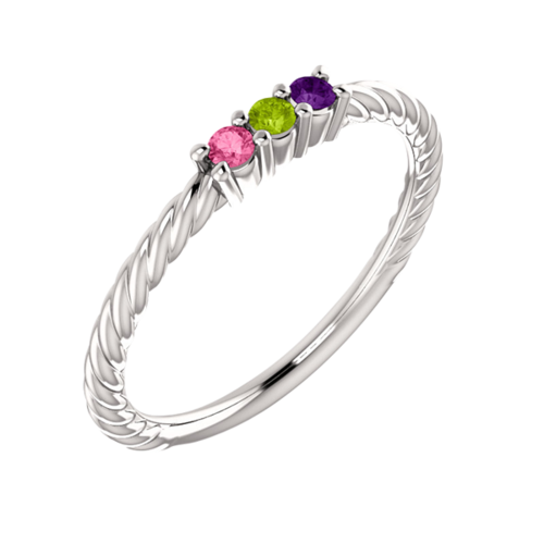 Paisley, Rope Design Mothers Ring