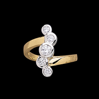 Right Hand Rings Diamond Waterfall Right Hand Ring
