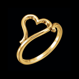 Stylish Gold Heart Ring