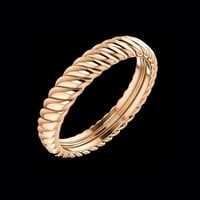 14kt Gold Thick Rope Band