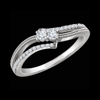 Diamond Rings Diamond 1/4ctw Two Stone Ring