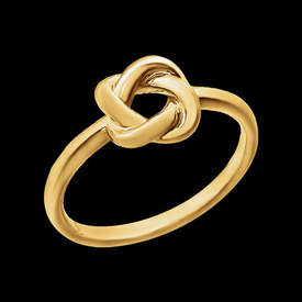 Gold Rings Simple Knot Design Ring