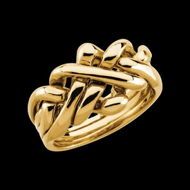 Puzzle Ring 14k Gold