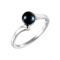Simple Black Pearl Fashion Ring