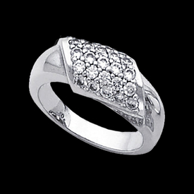 Platinum Rings Platinum Fashion Pave Diamond Ring