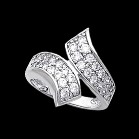 Platinum Rings Platinum Bypass Diamond Ring