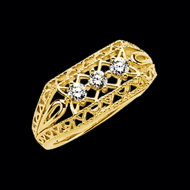 Diamond Rings Fancy Filigree Diamond Ring
