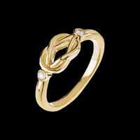 Diamond Gold Love Knot Ring
