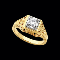 Antique Style Diamond Ring