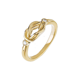 Diamond Rings Diamond Gold Love Knot Ring