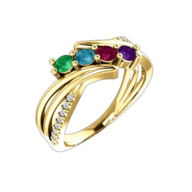 Mother Ring Gabriela 14k Gold Mothers Ring