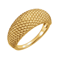 Gold Rings Beaded Dome Ring