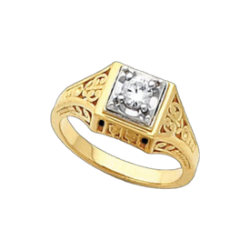 Diamond Rings Antique Style Diamond Ring