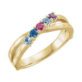 Mother Ring Mary, 14k Gold Mothers Ring