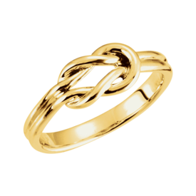 Gold Rings 14k Gold Knot Design Ring