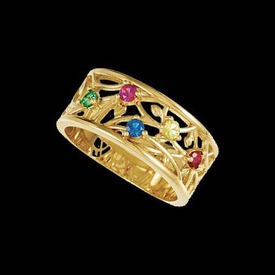 Mother Ring Rosella, Floral Band Mothers Ring