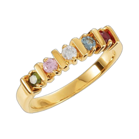 Mother Ring Bar Design Family Birthstone Ring
