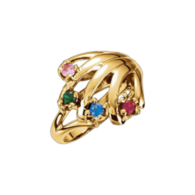 Mother Ring Antoinette, 14k Gold Mothers Ring