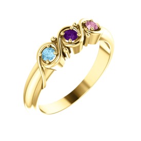 Mother Ring 14k Gold Mothers Ring, Sienna