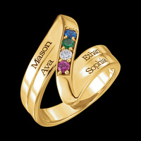 Beautiful Engravable Mothers Ring