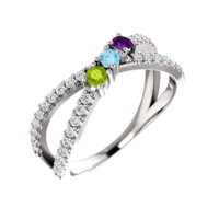 Mother Ring Gemstone Mothers Ring, Serena