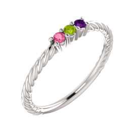 Mother Ring Paisley, Rope Design Mothers Ring